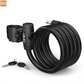Xiaomi HIMO Gembok Rantai Sepeda Portable Folding Lock Anti-Theft Steel Flex Cable - L150 - Black
