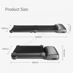Kingsmith WalkingPad Smart Treadmill Walking Machine Foldable Alloy Version - WPC1F - Dark Gray - 9