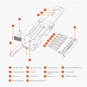 Xiaomi NexTool Set Perlengkapan Reparasi Sepeda Repair Tool Magnetic Sleeve - KT5557 - Black - 10