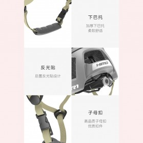 Xiaomi Himo R1 Helm Sepeda Multipurpose Cycling Helmet with Reflective - White - 8