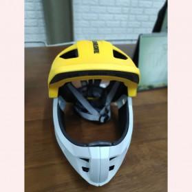 Xiaomi Himo Ki Helm Sepeda Anak Model Transformer Full Face Bike Riding Helmet Protective Gear - Yellow - 2