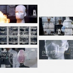 Xiaomi Masker Udara Electric Mask Respirator HEPA Filter USB Rechargeable - Q7 - Pink - 10