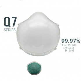 Pudun Masker Udara Electric Mask Respirator HEPA Filter USB Rechargeable - Q7 - White