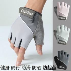 ATHLGTICS Sarung Tangan Fitness Gloves Olahraga Half Finger Size M - Q850 - Gray - 3