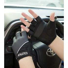 ATHLGTICS Sarung Tangan Fitness Gloves Olahraga Half Finger Size M - Q850 - Gray - 5