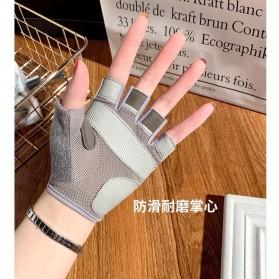 ATHLGTICS Sarung Tangan Fitness Gloves Olahraga Half Finger Size L - Q850 - Gray - 4