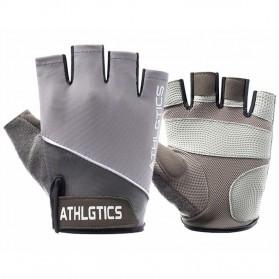 ATHLGTICS Sarung Tangan Fitness Gloves Olahraga Half Finger Size L - Q850 - Gray