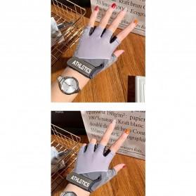 ATHLGTICS Sarung Tangan Fitness Gloves Olahraga Half Finger Size L - Q850 - Gray - 2