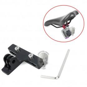 TMC Mount Kamera Aksi Kursi Sepeda Aluminum - HR401-BK - Black