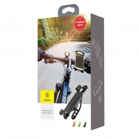 Baseus Smartphone Holder Sepeda/Motor - SUMIR-BY01 - Black - 7