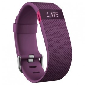 Fitbit Charge HR Heart Rate Wireless Activity Tracking Wristband - Large Size - Purple - 1