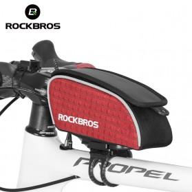 Rockbros Tas Rangka Saddle Sepeda Tube Bag - Black - 2