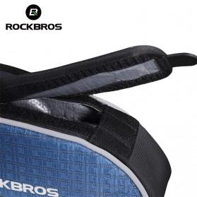 Rockbros Tas Rangka Saddle Sepeda Tube Bag - Black - 5
