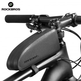 Rockbros Tas Rangka Saddle Sepeda Tube Bag - Black - 6