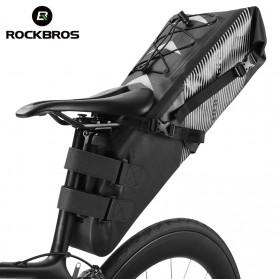Rockbros Tas Sepeda Trunk Pannier Waterproof IPX7 Nylon 10L - Black