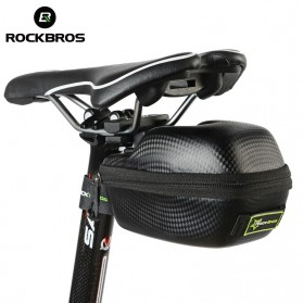 Rockbros Tas Jok Sepeda Saddle Safety Bag Waterproof - B4 - Black