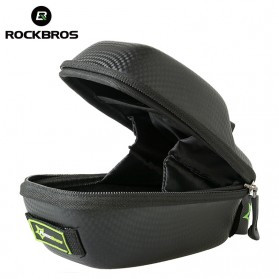 Rockbros Tas Jok Sepeda Saddle Safety Bag Waterproof - B4 - Black - 2