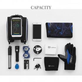 Rockbros Tas Sepeda Double Bag Smartphone 6 Inch - Y Leopard - Black - 3