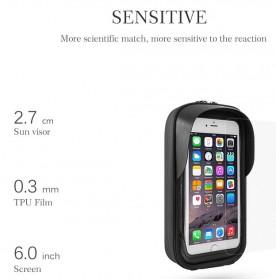 Rockbros Tas Sepeda Double Bag Smartphone 6 Inch - Y Leopard - Black - 4