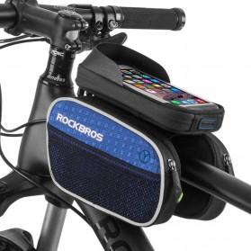 Rockbros Tas Sepeda Double Bag Smartphone 6 Inch - Y Leopard - Black - 8