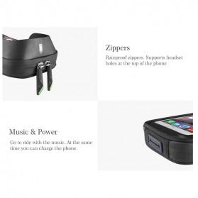 Rockbros Tas Sepeda Double Bag Smartphone 6 Inch - Y Leopard - Black - 9