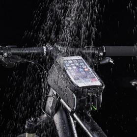 Rockbros Tas Sepeda Waterproof untuk 6.0 inch Smartphone - 017-1 - Black - 2