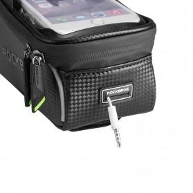 Rockbros Tas Sepeda Waterproof untuk 6.0 inch Smartphone - 017-1 - Black - 4
