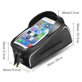 Rockbros Tas Sepeda Waterproof untuk 6.0 inch Smartphone - 017-1 - Black - 6