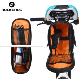 Rockbros Tas Sepeda Microfiber Waterproof dengan Holder Botol Minum - C7-1 - Black - 3