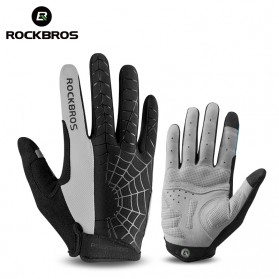 Rockbros Sarung Tangan Spider Full Finger Sepeda Fitness Size L - S109 - Black