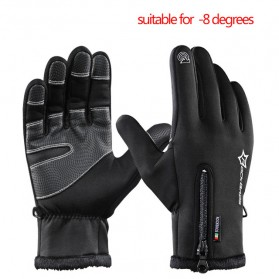 Rockbros Sarung Tangan Windproof Thermal Glove Size M - S091 - Black