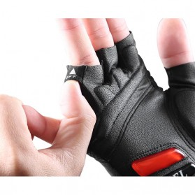 Rockbros Sarung Tangan Sepeda Half Finger Shock Absorber Size XL - S143 - Black - 5