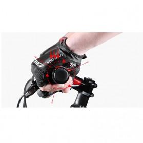 Rockbros Sarung Tangan Sepeda Half Finger Shock Absorber Size XL - S143 - Black - 6