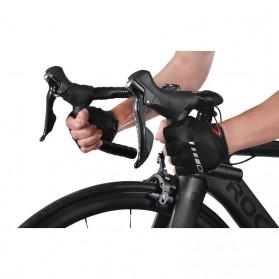 Rockbros Sarung Tangan Sepeda Half Finger Shock Absorber Size XL - S143 - Black - 8