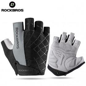 Rockbros Sarung Tangan Half Finger Anti-Skid Size L - S109 - Black