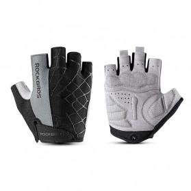 Rockbros Sarung Tangan Half Finger Anti-Skid Size L - S109 - Black - 2
