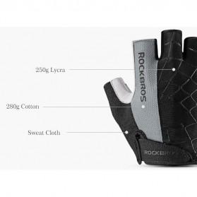 Rockbros Sarung Tangan Half Finger Anti-Skid Size L - S109 - Black - 6