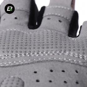 Rockbros Sarung Tangan Half Finger Anti-Skid Size M - S109 - Black - 3