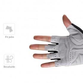Rockbros Sarung Tangan Half Finger Anti-Skid Size M - S109 - Black - 5