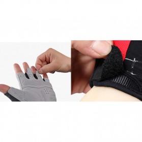 Rockbros Sarung Tangan Half Finger Anti-Skid Size M - S109 - Black - 7