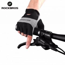 Rockbros Sarung Tangan Half Finger Anti-Skid Size M - S108 - Black - 2