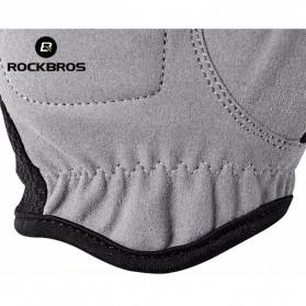 Rockbros Sarung Tangan Half Finger Anti-Skid Size M - S108 - Black - 6