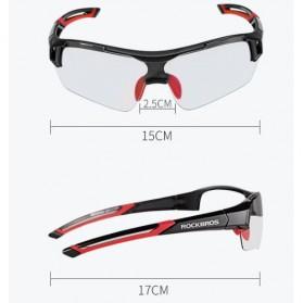 Rockbros Kacamata Sepeda Sporty dengan Frame Myopia - Black/Red - 2