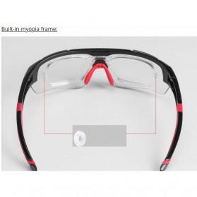 Rockbros Kacamata Sepeda Sporty dengan Frame Myopia - Black/Red - 5