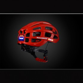ROCKBROS Helm Sepeda Light Cycling Bike Helmet with Headlight - ZN1001 - Red - 2
