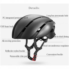 ROCKBROS Helm Sepeda Cycling Bike Helmet - LK-1 - Black - 2