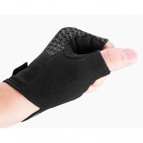 Rockbros Sarung Tangan Sepeda Half Finger Shock Gel Absorber Size L - S169 - Black - 8