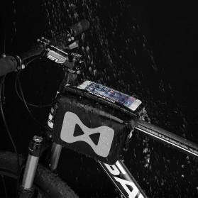 Rockbros Tas Sepeda Double Bag Smartphone Frame Pannier 6.2 Inch - AS-042 - Black