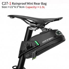 Rockbros Tas Barang Sadel Belakang Sepeda Bike Bag Waterproof 1.5L - C27-1 - Black
