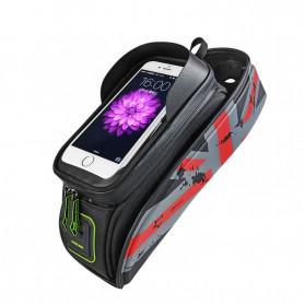 Rockbros Tas Barang Sepeda Smartphone Bag Touch Screen 6 Inch Waterproof - 021-1R - Red